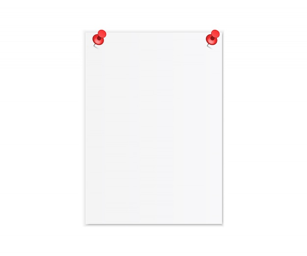 Realistyczna biała kartka papieru