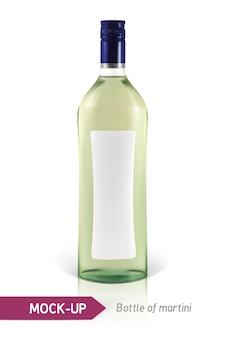 Realistyczna butelka martini lub inna butelka wermutu