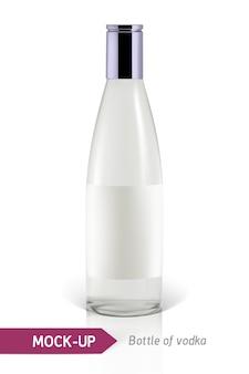 Realistyczna butelka wódki lub inna butelka ginu