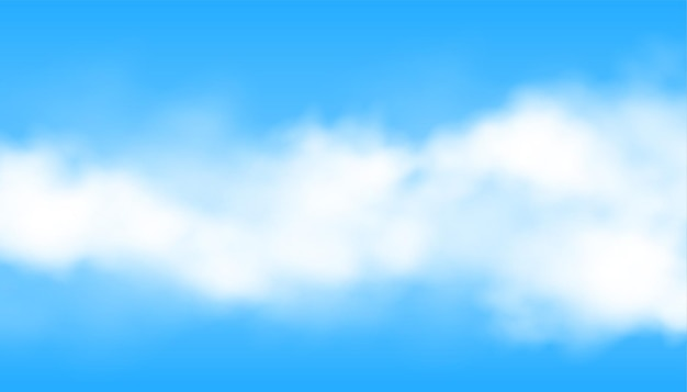 Realistyczna chmura lub dym