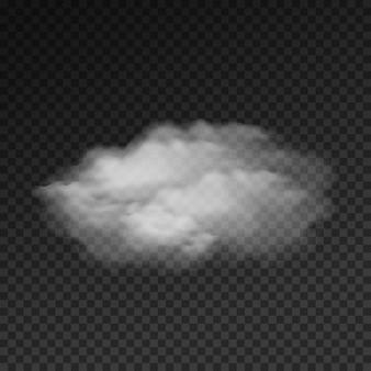 Realistyczna chmura na białym tle na przezroczystym