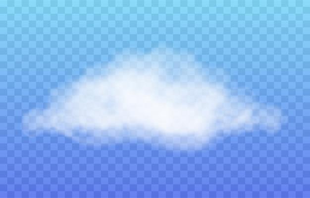 Realistyczna chmura na przezroczystym