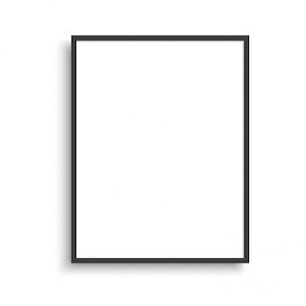 Realistyczna cienka ramka na zdjęcia. ilustracja