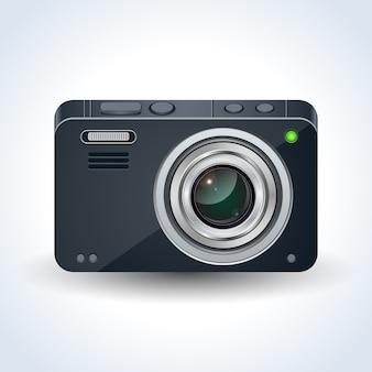 Realistyczna cyfrowa fotografia wektorowa ilustracja kamera