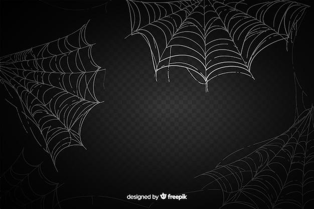 Realistyczna czarna pajęczyna z gradientem