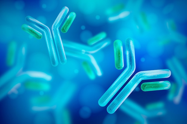 Realistyczna cząsteczka przeciwciała immunoglobuliny