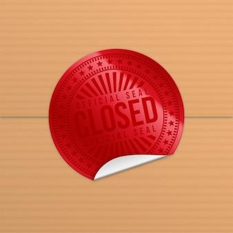 Realistyczna czerwona pieczęć zamknięta pieczęć