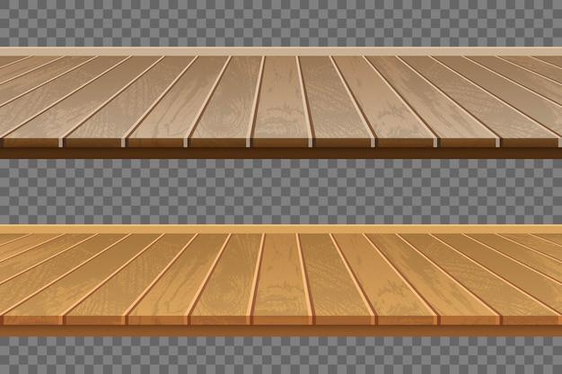 Realistyczna drewniana podłoga na przezroczystym tle