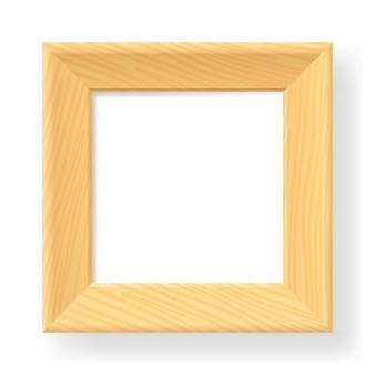 Realistyczna drewniana rama
