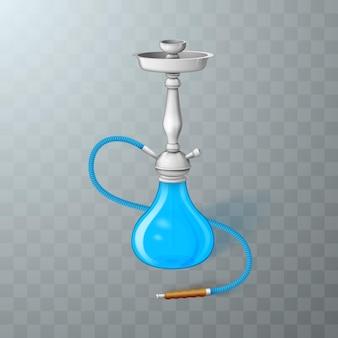 Realistyczna fajka wodna na białym tle