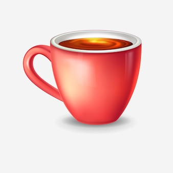 Realistyczna filiżanka z herbatą