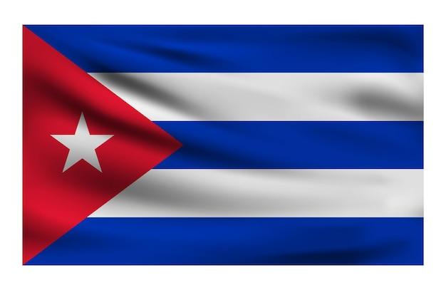 Realistyczna flaga narodowa kuby