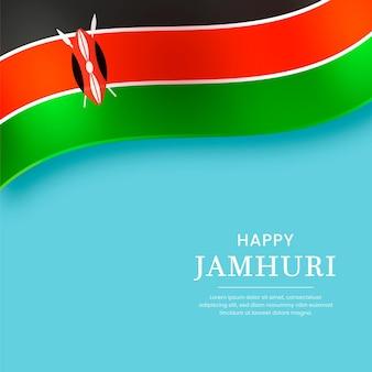 Realistyczna flaga wydarzenia jamhuri day