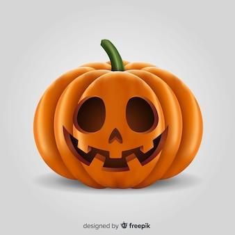 Realistyczna halloween szczęśliwa dynia