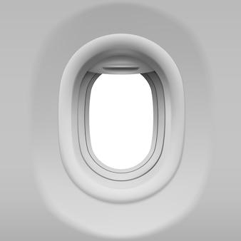 Realistyczna iluminator samolotu
