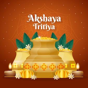 Realistyczna ilustracja akshaya tritiya