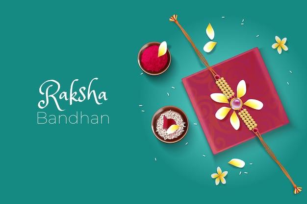 Realistyczna ilustracja bandhan raksha