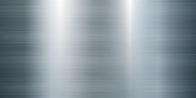 Realistyczna ilustracja duży transparent ze stali metalowej tekstury
