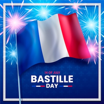 Realistyczna ilustracja dzień bastylii