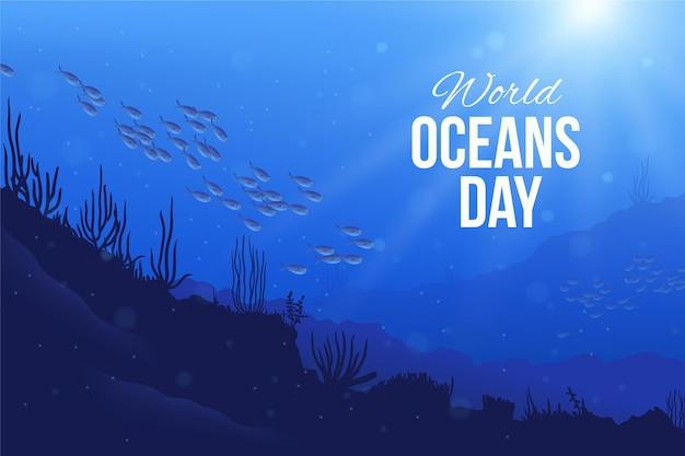 Realistyczna ilustracja dzień oceanów świata