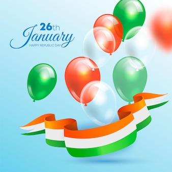 Realistyczna ilustracja dzień republiki z balonami
