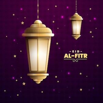 Realistyczna ilustracja eid al-fitr