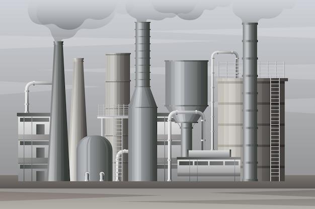 Realistyczna ilustracja elektrowni