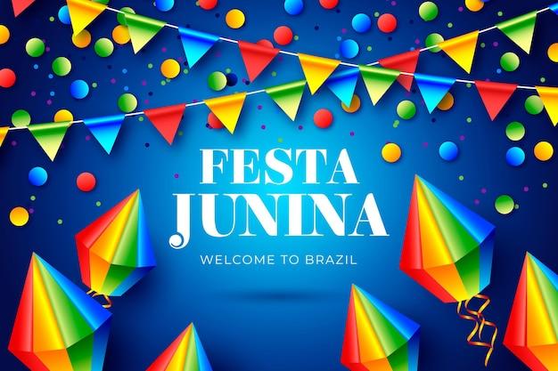 Realistyczna ilustracja festa junina