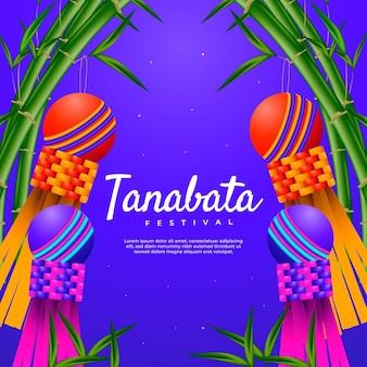 Realistyczna ilustracja festiwalu tanabata