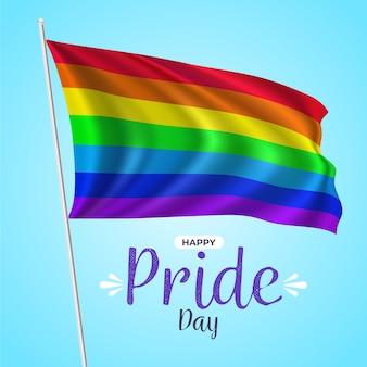 Realistyczna ilustracja flagi dnia dumy