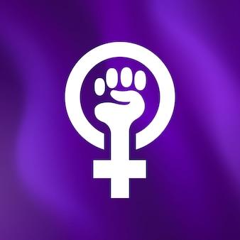 Realistyczna ilustracja flagi feministycznej
