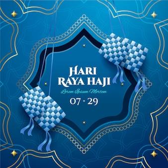 Realistyczna ilustracja hari raya haji