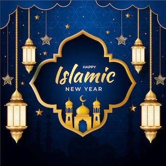 Realistyczna ilustracja islamskiego nowego roku