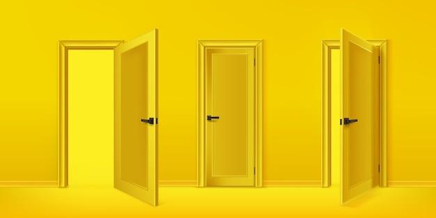 Realistyczna ilustracja kolekcji drzwi