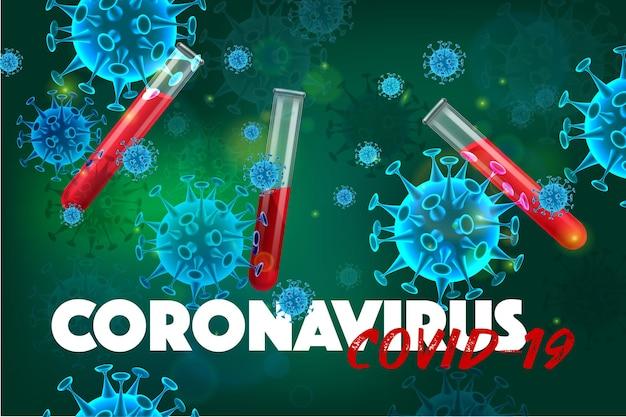 Realistyczna ilustracja koronawirusa