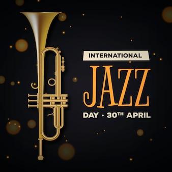Realistyczna ilustracja międzynarodowego dnia jazzu