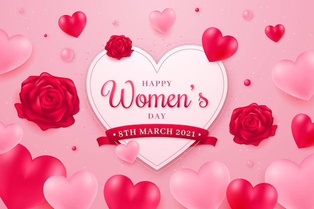 Realistyczna ilustracja międzynarodowy dzień kobiet