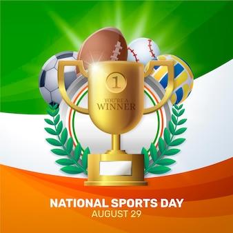 Realistyczna ilustracja narodowego dnia sportu