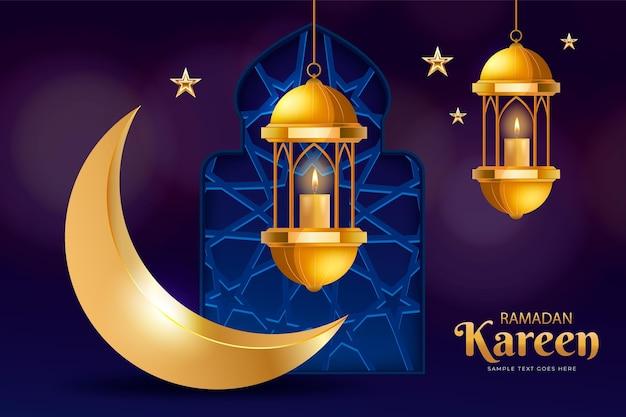 Realistyczna ilustracja ramadan kareem