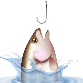 Realistyczna ilustracja rybołówstwa