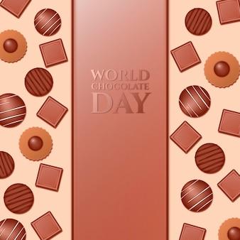 Realistyczna ilustracja światowego dnia czekolady