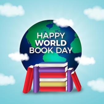 Realistyczna ilustracja światowego dnia książki