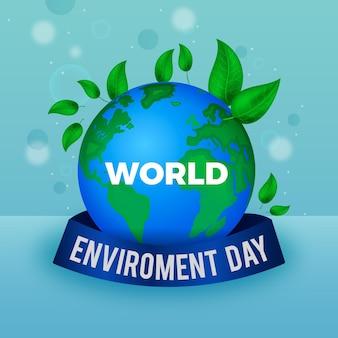 Realistyczna ilustracja światowego dnia środowiska