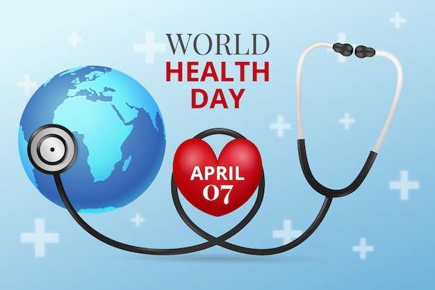 Realistyczna ilustracja światowego dnia zdrowia
