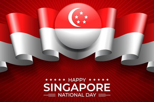 Realistyczna Ilustracja święta Narodowego W Singapurze Darmowych Wektorów