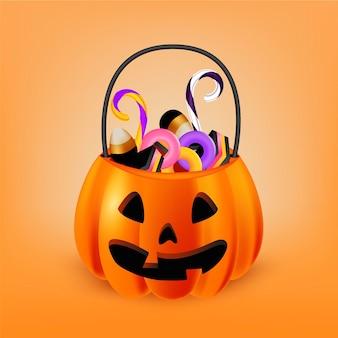 Realistyczna ilustracja torby halloween