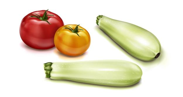 Realistyczna ilustracja widok z góry warzyw
