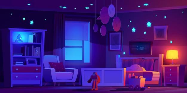 Realistyczna ilustracja wnętrza pokoju