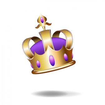 Realistyczna ilustracja złota korona