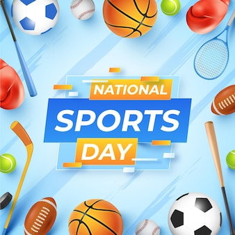 Realistyczna indonezyjski narodowy dzień sportu ilustracja